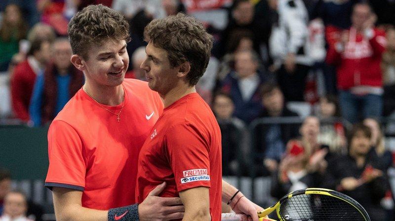 """Une défaite """"prometteuse"""" pour la Suisse en Coupe Davis"""