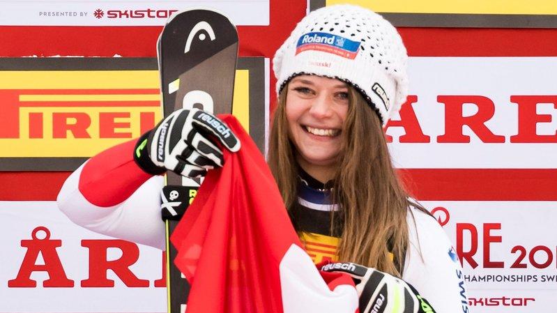 Corinne Suter a apporté une première médaille à la délégation suisse.
