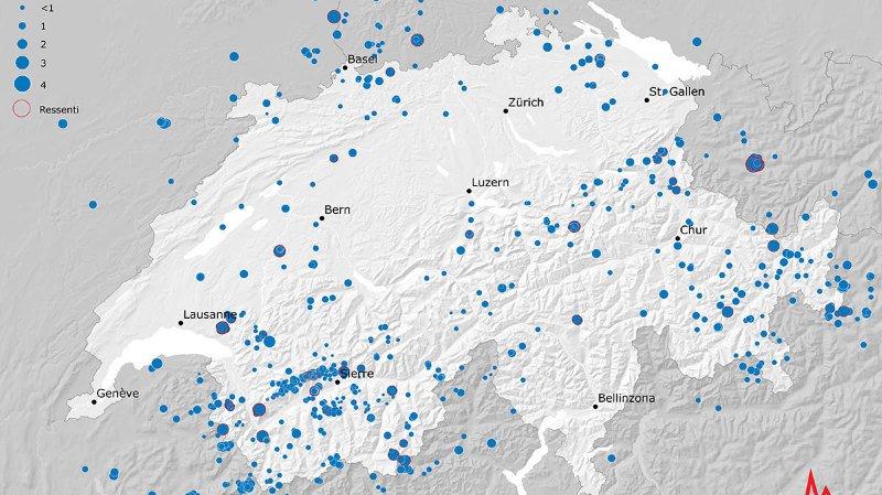 Dans l'ensemble, l'activité sismique a été dans la moyenne en 2018.