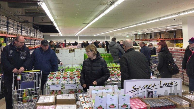 L'inauguration du premier magasin de Torgservis a attiré du monde ce mardi matin à Leipzig.