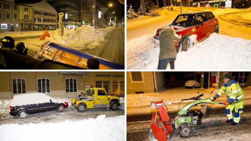 La Chaux-de-Fonds: une nuit à lutter contre la neige