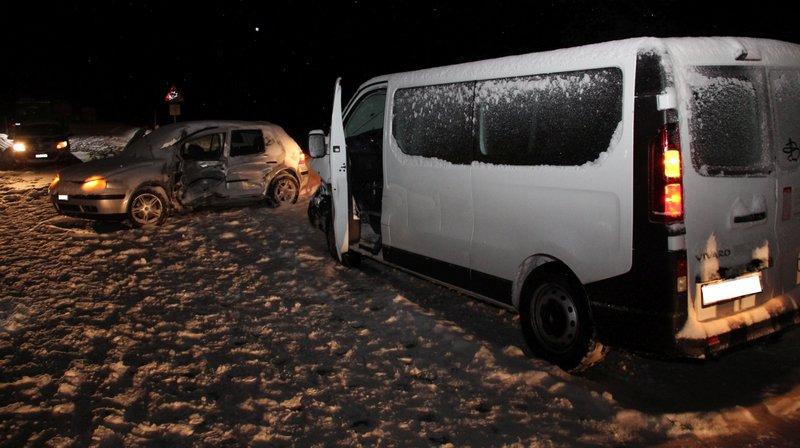 L'accident a fait une blessée grave.