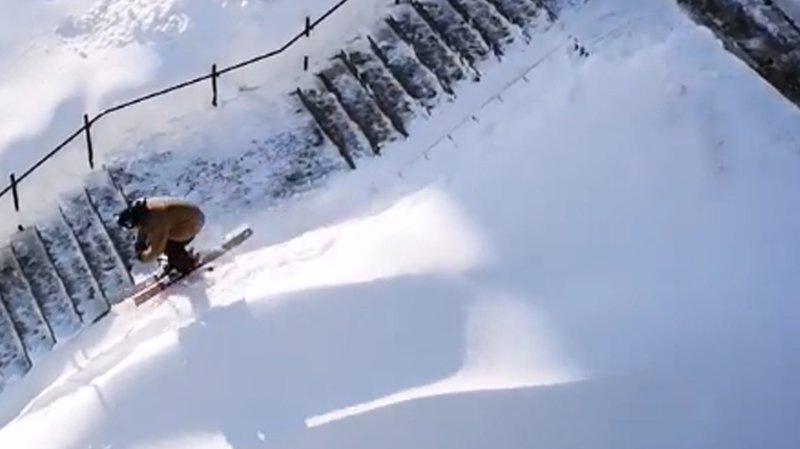 Ils skient dans les rues de La Chaux-de-Fonds