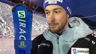 Mondiaux d'Are - combiné: Luca Aerni est content de sa descente et un peu déçu du slalom
