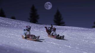 Piste nocturne à la Fête de la neige à Mont-Soleil