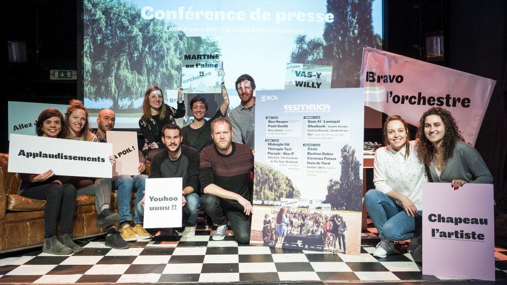 L'équipe de Festi'neuch a présenté l'affiche complète du festival ce lundi.