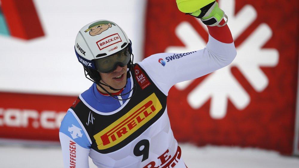 Ramon Zenhäusern, 5e et meilleur Suisse du slalom dimanche.
