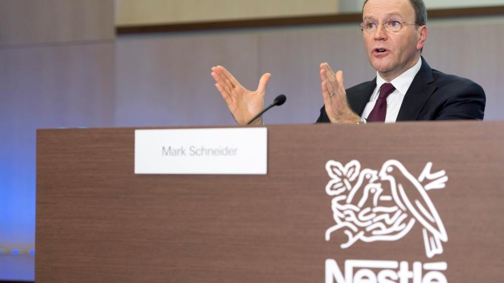 Selon Mark Schneider, directeur général de Nestlé, «les chiffres 2018 sont le résultat de la concentration de notre activité sur nos produits de base  en alimentation et boissons, ainsi que dans la santé».
