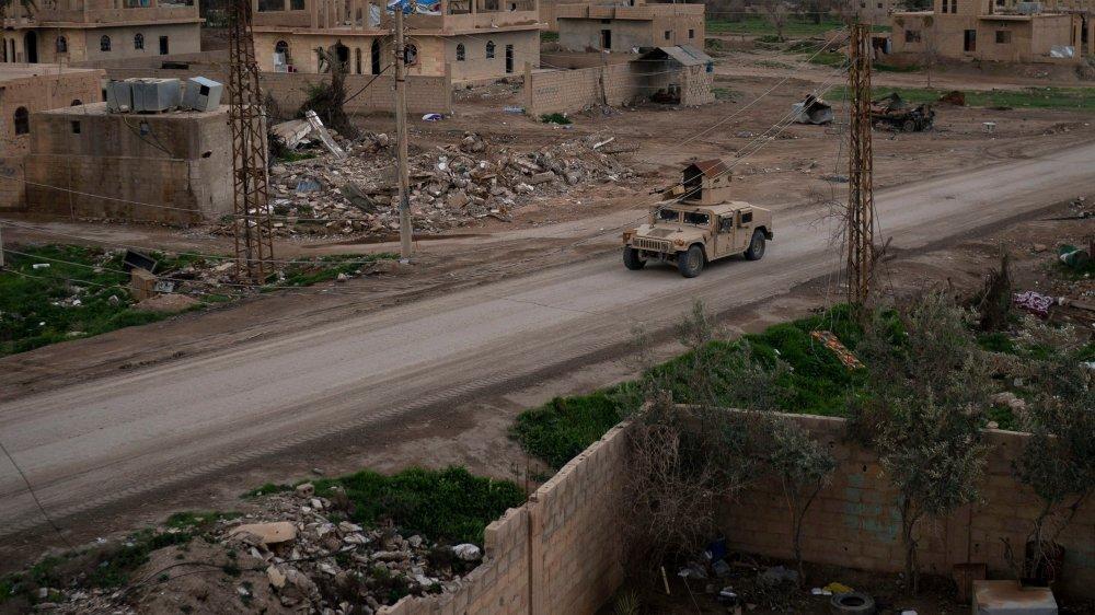 Offensive contre l'EI près de Baghouz.
