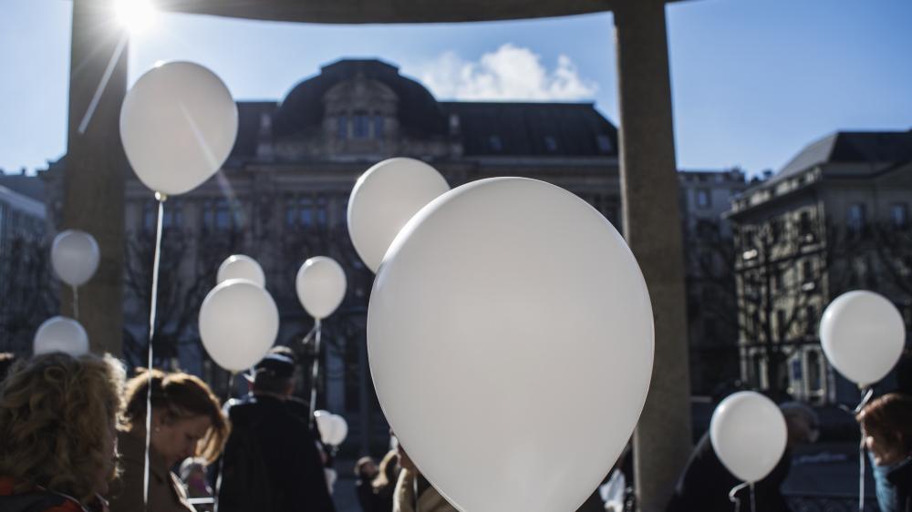 Selon Mgr Morerod, dire aujourd'hui aux victimes (ici une marche blanche, à Fribourg) «Vous n'avez pas menti, c'était vrai», «est déjà un soulagement pour elles».