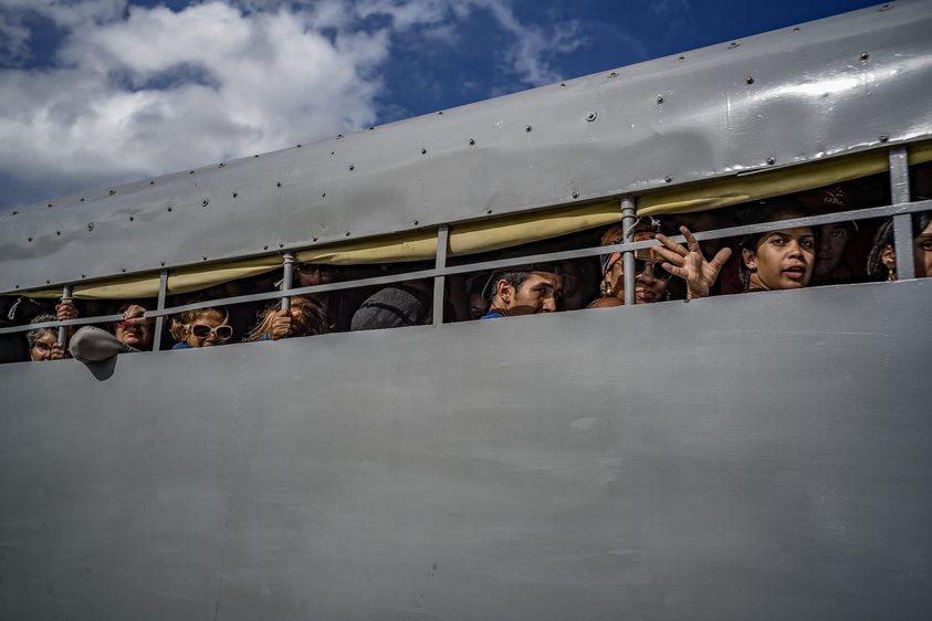 Cliché pris lors du cortège funéraire de Fidel Castro. Photo: Michael Christopher Brown.