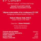 81ème Concert des Rameaux