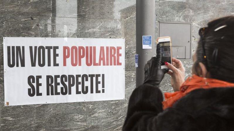 Piqûre de rappel un an après l'acceptation de l'initiative populaire H+H, en février 2018 à La Chaux-de-fonds.