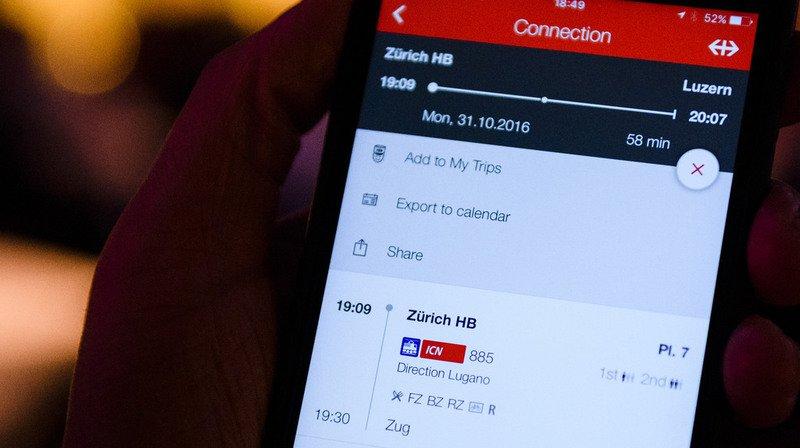 Lucerne: une amende pour un billet acheté sur l'application CFF deux minutes après le départ du train