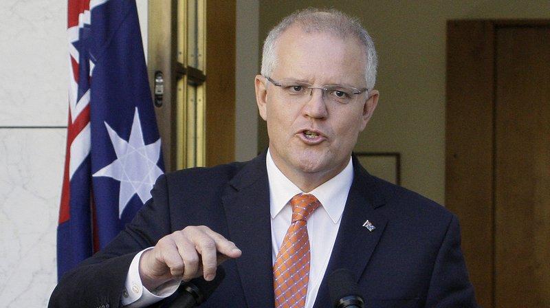 """Le Premier ministre australien, Scott Morrison, a affirmé que les services de sécurité se sont """"rendu compte que les réseaux de certains partis politiques avaient aussi été touchés""""."""
