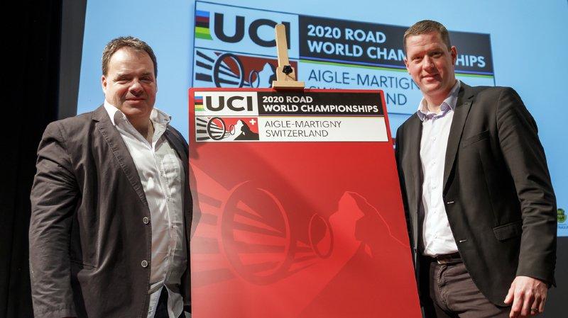 Alexandre Debons et Gregory Devaud, les deux co-préisdents de l'Association pour l'organisation des Championnats du Monde Route UCI 2020, composée de privés et de professionnels.