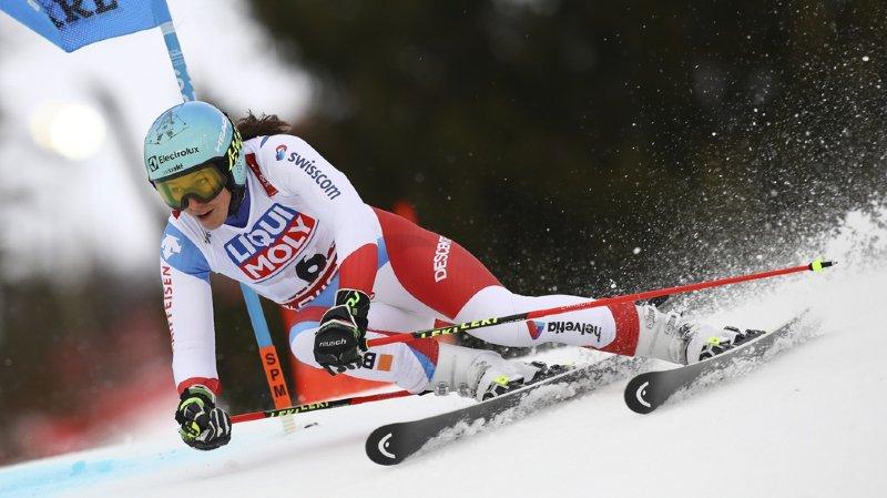 Ce n'est probablement pas en géant que Wendy Holdener décrochera une troisième médaille mondiale.