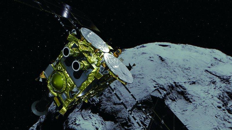 La sonde Hayabusa2 a pu entrer en contact avec l'astéroïde Ryugu après un voyage de trois ans et dix mois.