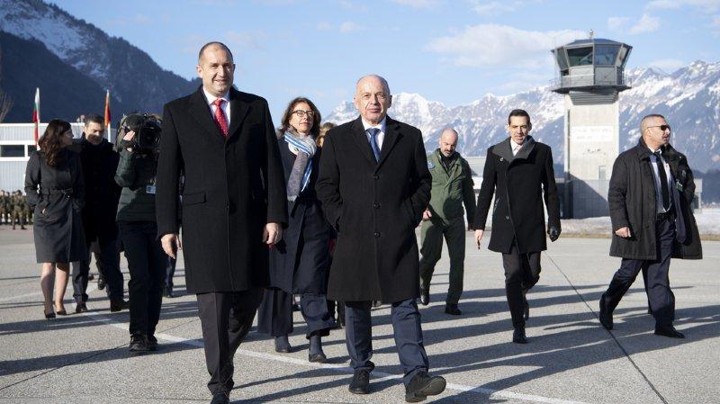 La rencontre a eu lieu sur la base aérienne de Meiringen (BE).