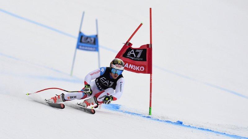 Ski alpin: Loïc Meillard 7e après la première manche du géant de Bansko