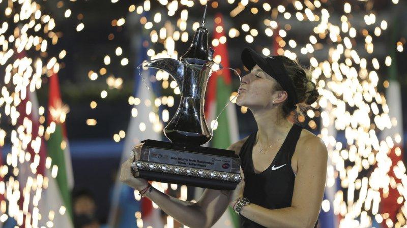 Tennis: titrée à Dubaï, Belinda Bencic occupe désormais la 23e place du classement WTA