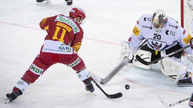 Hockey: Fribourg fait un bond en avant, Bienne un patin et demi en play-off