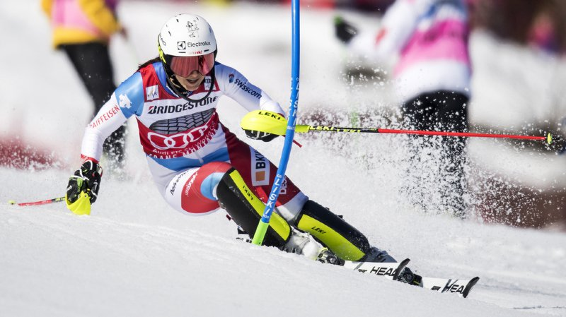 Ski alpin: Wendy Holdener 3e du combiné de Crans-Montana, l'Italienne Federica Brignone s'impose