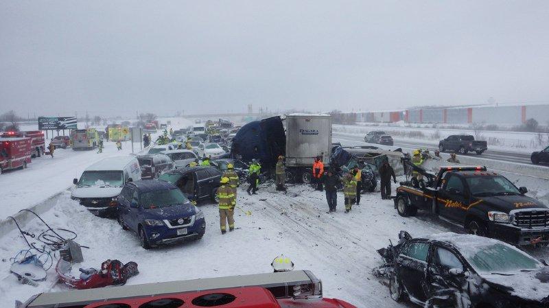 Les policiers qui sont intervenus sur cet accident n'avaient jamais connu de telles conditions.