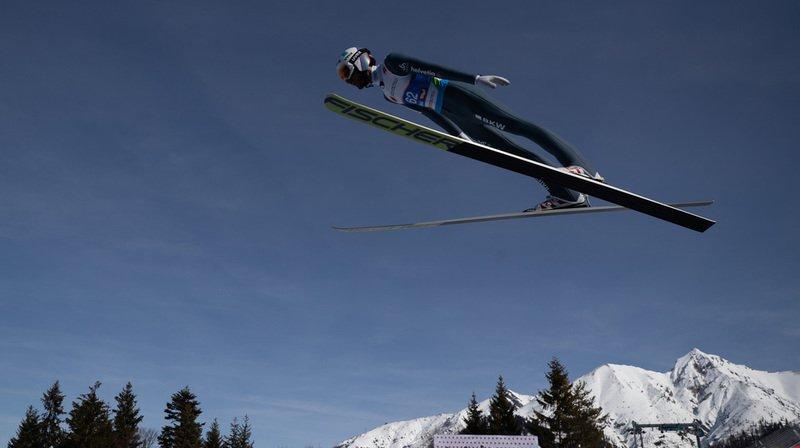 Ski nordique - Mondiaux de Seefeld: le sauteur vaudois Killian Peier 3e à l'entraînement sur le petit tremplin