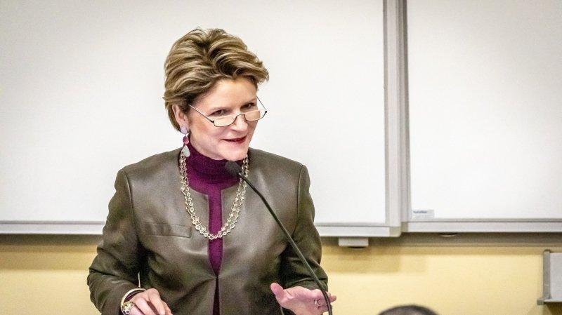 Marie-Gabrielle Ineischen-Fleisch, secrétaire d'Etat aux affaires économiques a fait salle comble à l'Unine ce mardi.
