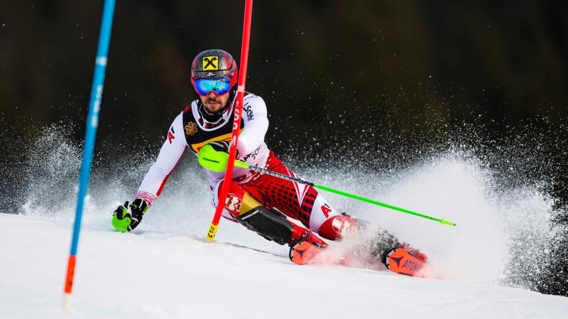 Comme pour remettre les choses au point, Marcel Hirscher a remporté le titre mondial en slalom.
