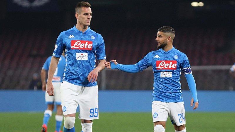 Arkadiusz Milik (à gauche) et Lorenzo Insigne, deux atouts offensifs de Naples.