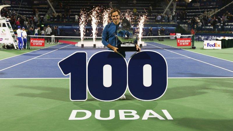 A Dubaï, Roger Federer n'a pas laissé passer sa chance de remporter son 100e titre.