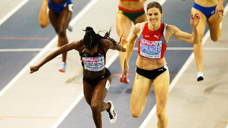 Lea Sprunger n'avait pas «senti» le retour de la Belge Cynthia Bolingo Mbongo, mais la Suissesse a conservé un centième d'avance pour devenir championne d'Europe.