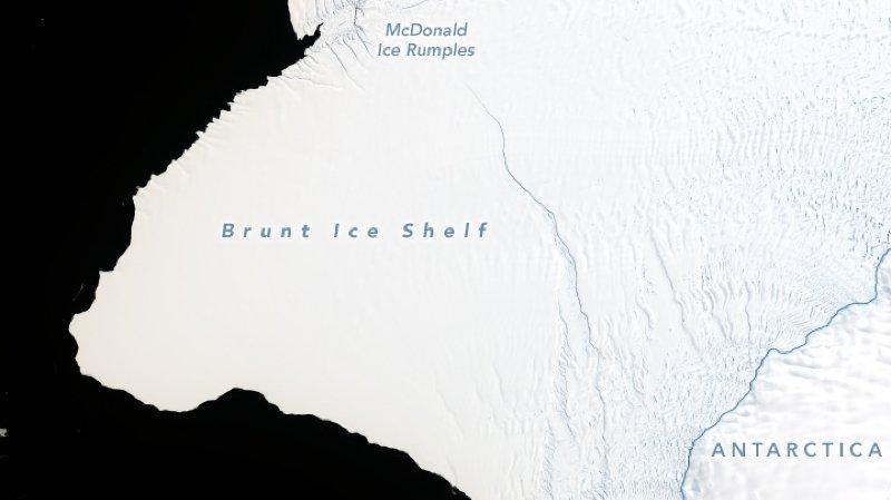 Antarctique: un iceberg de deux fois la taille de New York est sur le point de se détacher