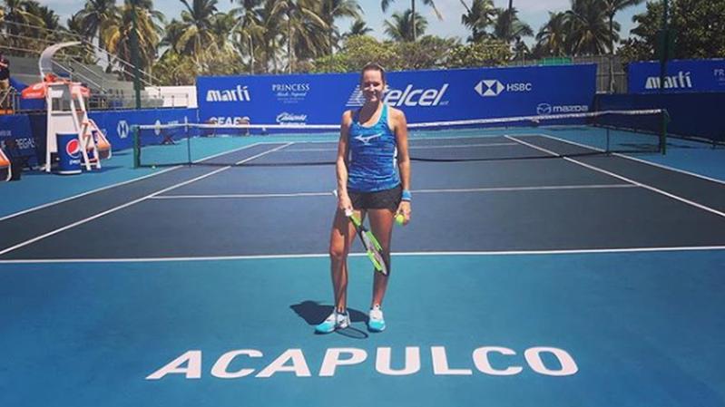 Conny Perrin dans le tableau principal du tournoi d'Acapulco
