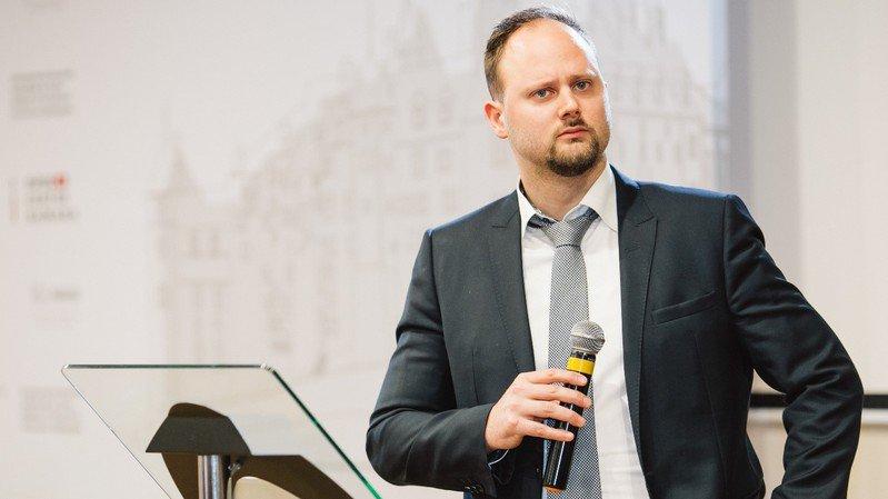 Nicolas Waefler lors de l'ouverture du consulat honoraire de Suisse en Russie, le 21 février à Samara.
