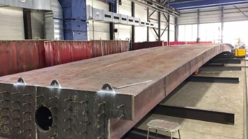 Les caissons en acier ont une portée de 35 mètres.