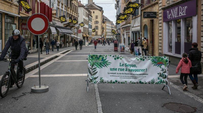 Neuchâtel: un premier samedi sans bus à la rue du Seyon