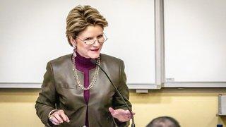 La secrétaire de Etat à l'économie à l'Université de Neuchâtel