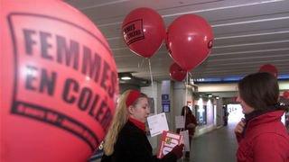 En 2004, des femmes rouges de colère à Neuchâtel