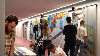 A Neuchâtel, la fresque du hall du CPLN a été restaurée