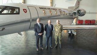 Le Conseil fédéral a reçu son nouveau jet, un PC-24 de Pilatus 100% suisse