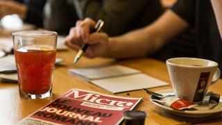 La rédaction de «Micro» en briefing à Neuchâtel