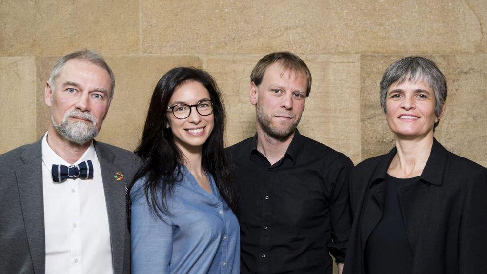 Roby Tschopp, Céline Vara, Fabien Fivaz et Veronika Pantillon, de gauche à droite.