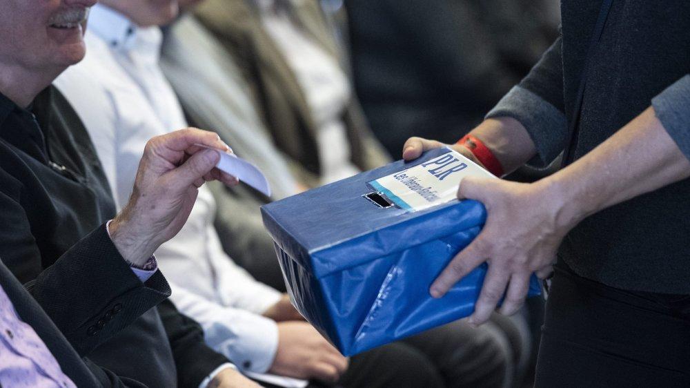Les membres du PLR ont voté à bulletin secret pour désigner leurs candidats pour les fédérales de cet automne.