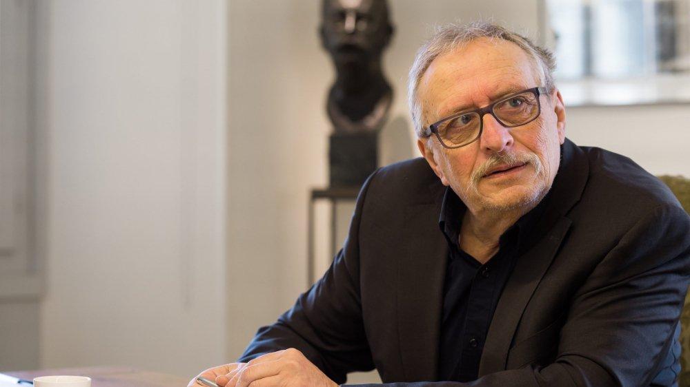 L'écrivain Jean-Bernard Vuillème, lauréat du prix 2019 de l'Institut neuchâtelois.
