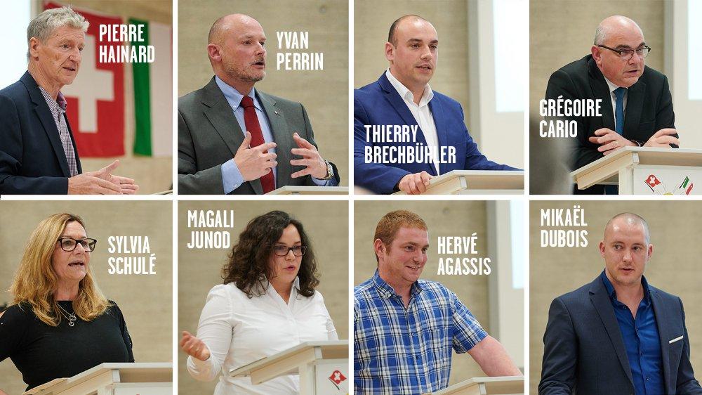 Les candidats de l'UDC neuchâteloise aux élections fédérales.