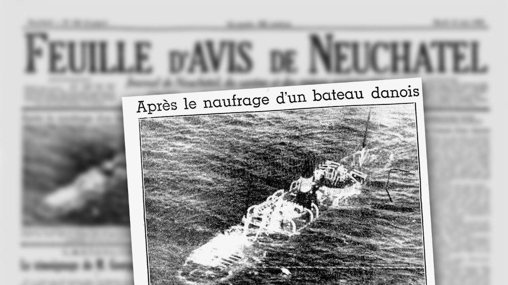 """Le père de Christian Morel était le commandant du """"Kjoebenhavn"""", un navire danois qui a coulé le 11 juin 1948."""