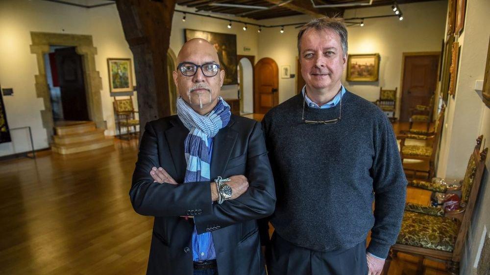 Sandro Paz, à gauche, et Laurent Schmid, coordinateurs du château de Boudry.